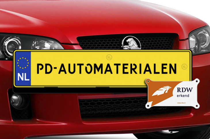 PD Automaterialen Kentekenplaten